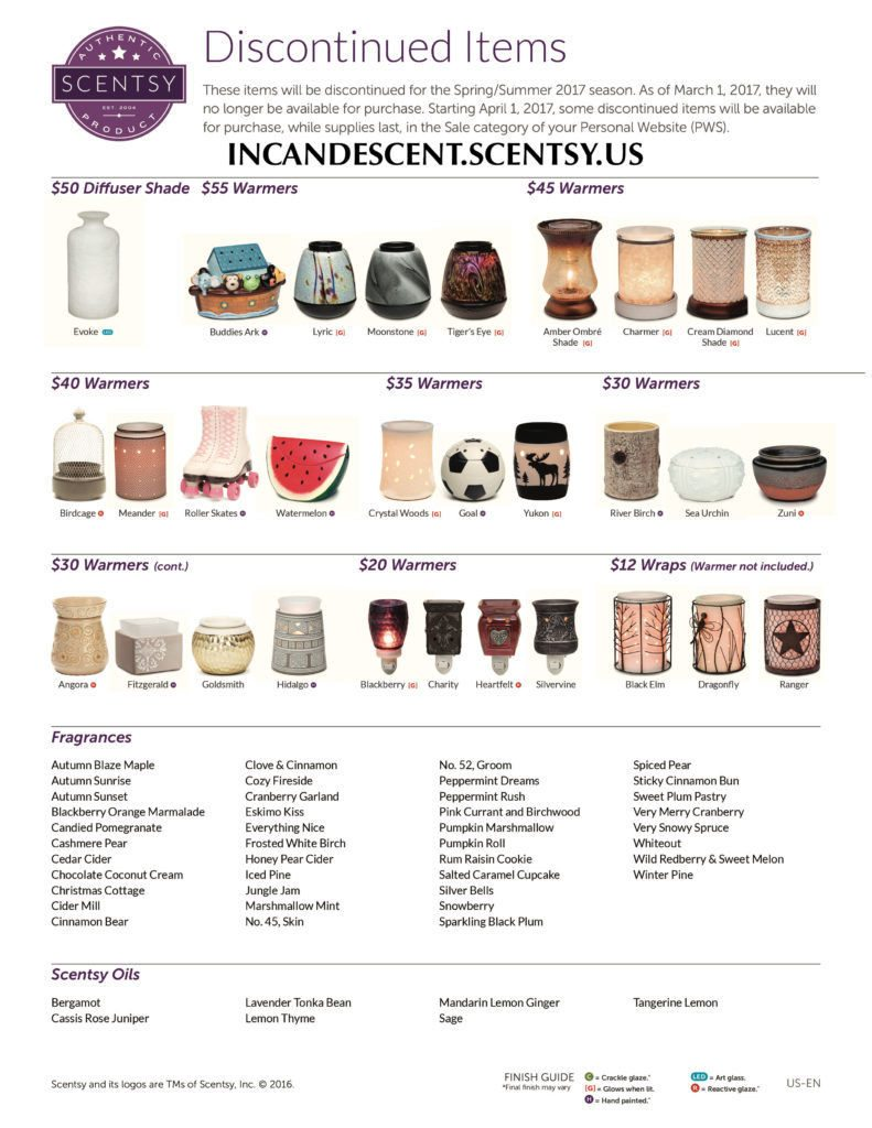 SCENTSY DISCONTINUED SPRING SUMMER 2017 PG 1   Shop Scentsy Discontinued items for Spring Summer 2017   Scentsy® Online Store   Scentsy Warmers & Scents   Incandescent.Scentsy.us