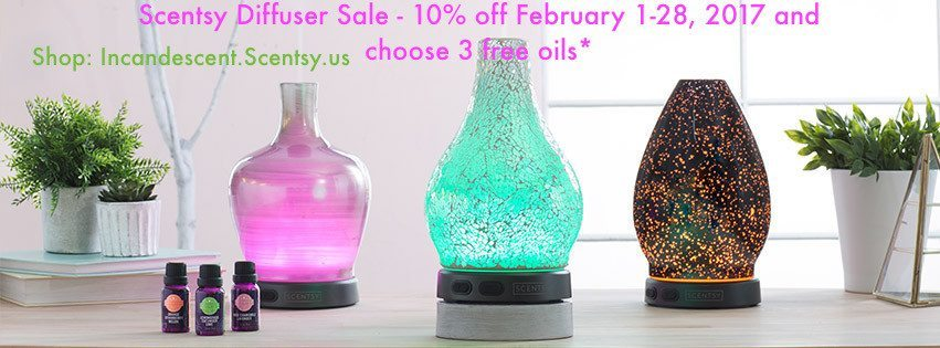 SCENTSY DIFFUSER SALE FEBRUARY 2017   SCENTSY DIFFUSER SALE / SPECIAL FEBRUARY 2017   Scentsy® Online Store   Scentsy Warmers & Scents   Incandescent.Scentsy.us