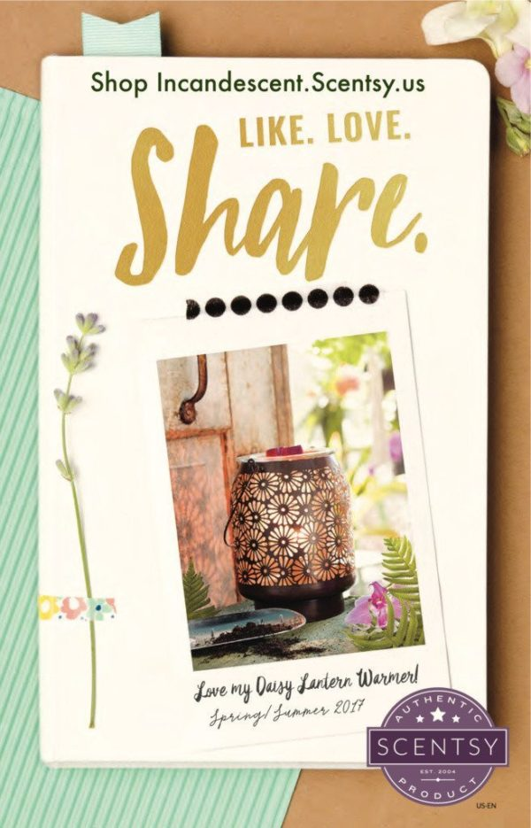 SCENTSY SPRING SUMMER 2017 CATALOG COVER