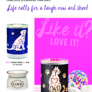 SCENTSY I HEART DOGS WARMER SCENTSY I HEART CATS WARMER