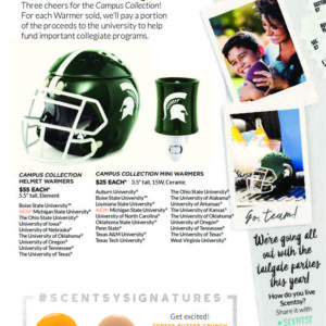 MICHIGAN STATE UNIVERSITY SCENTSY WARMERS