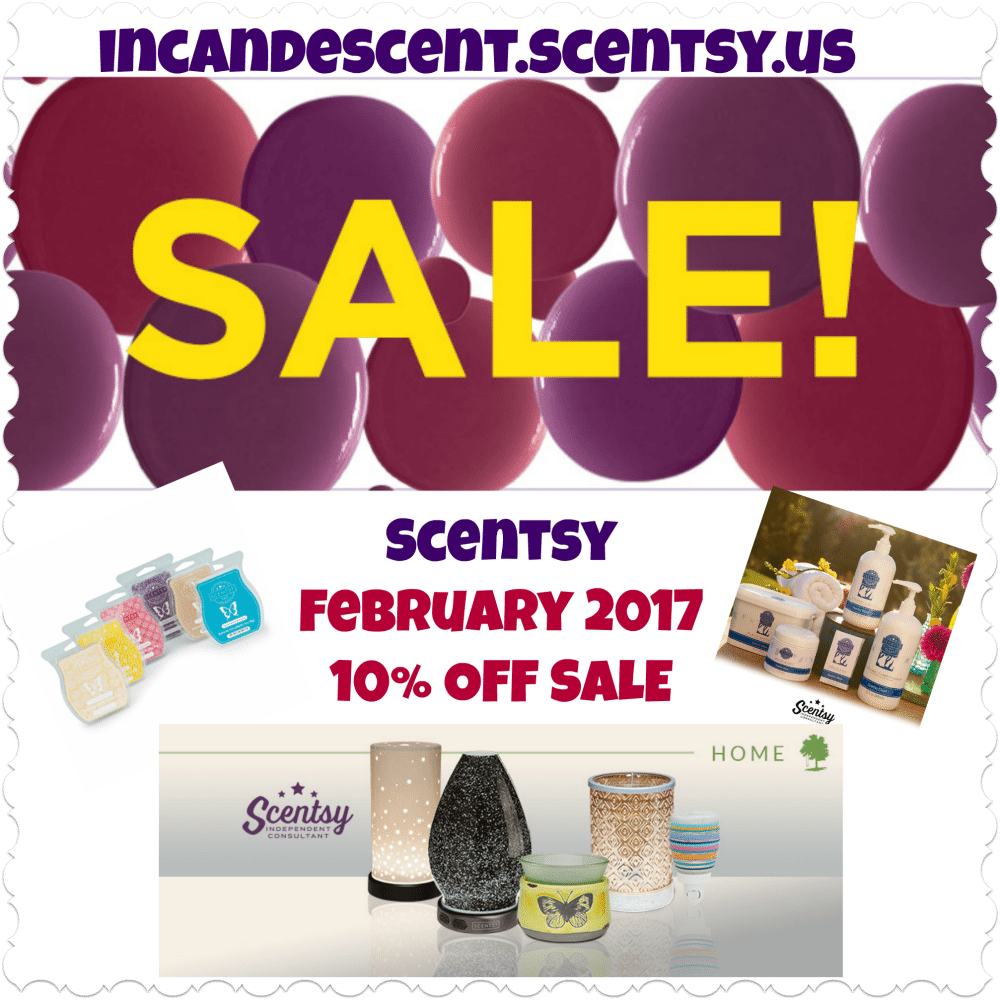 SCENTSY FEBRUARY 2017 SALE!