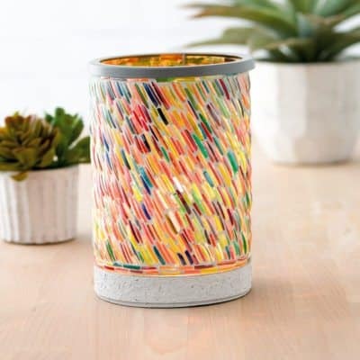 NEW! COLORS OF THE RAINBOW LAMPSHADE SCENTSY WARMER