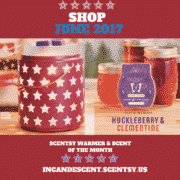SCENTSY WARMER AND SCENT OF THE MONTH