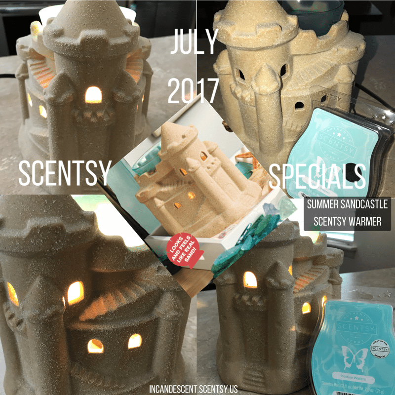 SUMMER SANDCASTLE SCENTSY WARMER | SCENTSY JULY 2017 WARMER AND SCENT OF THE MONTH ~ SUMMER SANDCASTLE SCENTSY WARMER AND PRISTINE WATERS | Scentsy® Online Store | Scentsy Warmers & Scents | Incandescent.Scentsy.us
