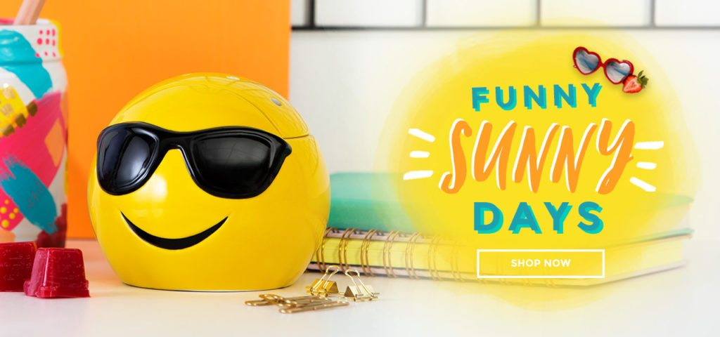 SCENTSY SUMMER COLLECTION FUNNY SUNNY DAYS   Shop the Limited Edition Scentsy Summer June 2017 Warmer & Fragrance Collection   Scentsy® Online Store   Scentsy Warmers & Scents   Incandescent.Scentsy.us