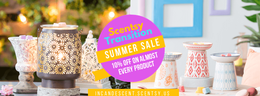 INCANDESCENT.SCENTSY.US - 10% of August 2017 Sale Banner | Scentsy 10% off Sale August 2017