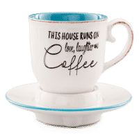 LOVE LAUGHTER COFFEE CUP SCENTSY WARMER | DISCONTINUED
