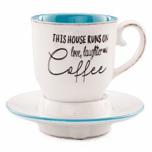 LOVE LAUGHTER COFFEE CUP SCENTSY WARMER