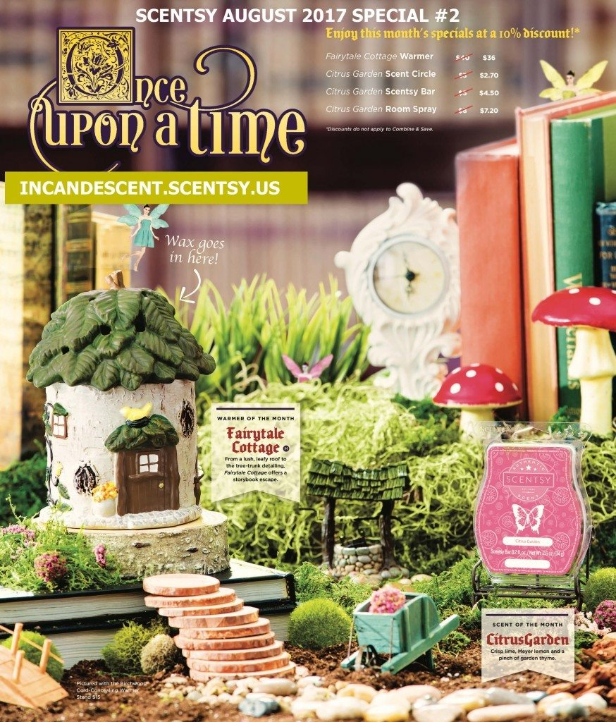 SCENTSY AUGUST 2017 #2 WARMER AND SCENT OF MONTH FAIRYTALE COTTAGE AND CITRUS GARDEN FRAGRANCE (1) | SCENTSY AUGUST 2017 WARMER AND SCENT OF THE MONTH NO. 2 FAIRYTALE COTTAGE AND CITRUS GARDEN FRAGRANCE | Scentsy® Online Store | Scentsy Warmers & Scents | Incandescent.Scentsy.us