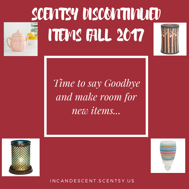 Scentsy Discontinued List for Fall 2017