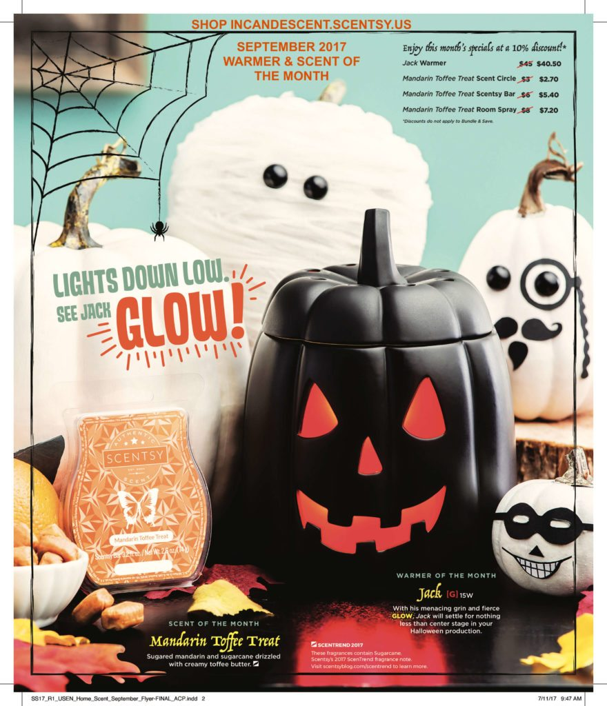SCENTSY SEPTEMBER 2017 WARMER AND SCENT OF THE MONTH JACK SCENTSY WARMER AND MANDARIN TOFFEE TREAT | SCENTSY SEPTEMBER 2017 WARMER AND SCENT OF THE MONTH ~ JACK SCENTSY WARMER & MANDARIN TOFFEE TREAT FRAGRANCE
