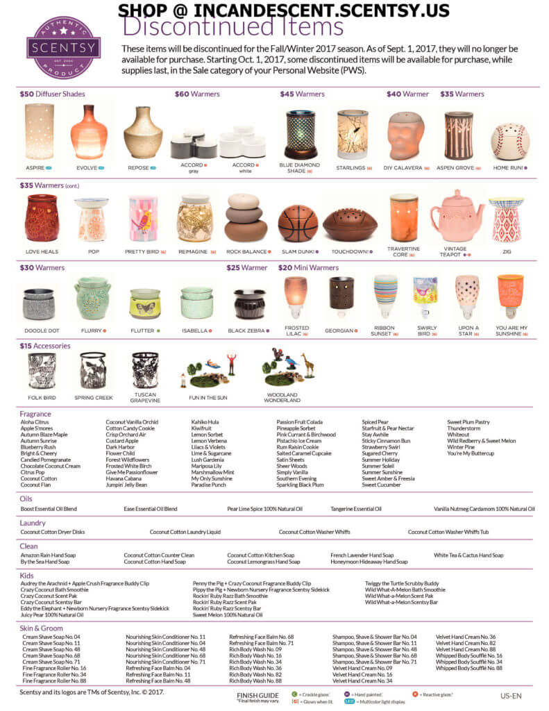 Scentsy Discontinued Items Fall 2017 Scentsy 174 Buy Online