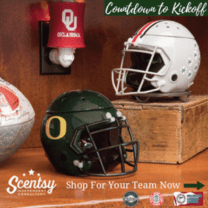 Scentsy Campus Collection Football Warmers