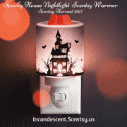 SPOOKY HOUSE NIGHTLIGHT MINI SCENTSY WARMER