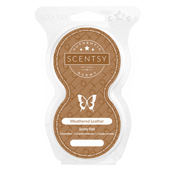 WEATHERED LEATHER SCENTSY GO PODS