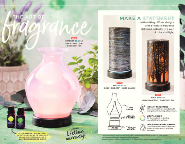 SCENTSY FALL 2017 NEW DIFFUSERS| NEW! AVID SCENTSY DIFFUSER SHADE ONLY | Shop Scentsy | Incandescent.Scentsy.us