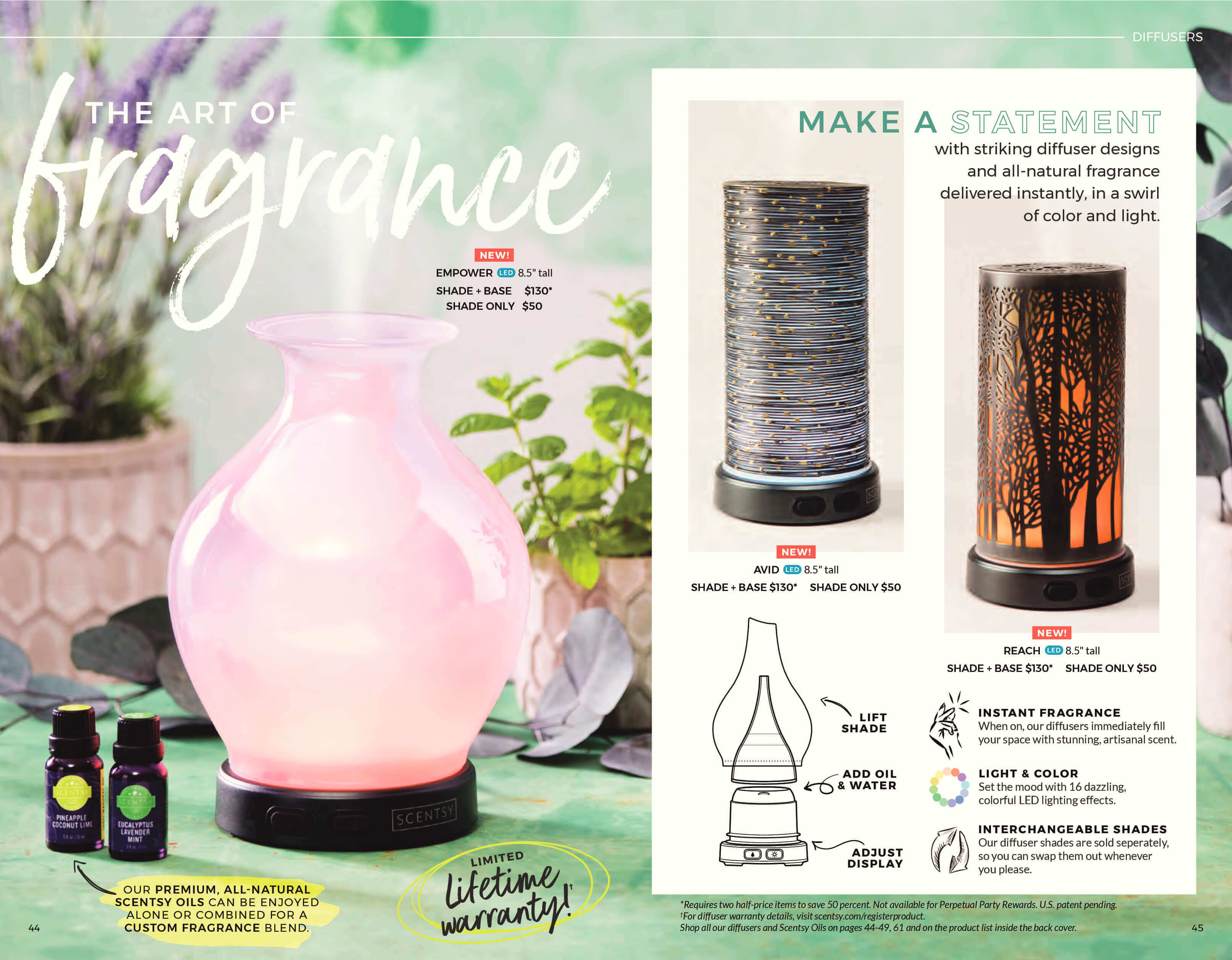 NEW! ENTICE SCENTSY DIFFUSER SHADE ONLY | Scentsy® Buy Online ...