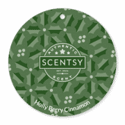 HOLLYBERRY CINNAMON SCENTSY SCENT CIRCLE