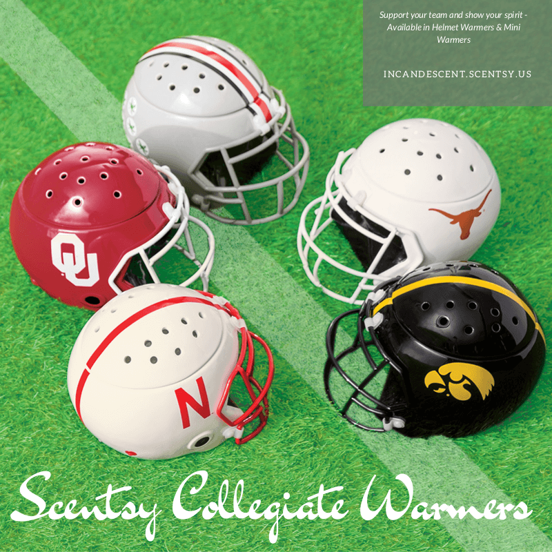 It's College Football Time - Get Your Scentsy Collegiate Football Warmers!