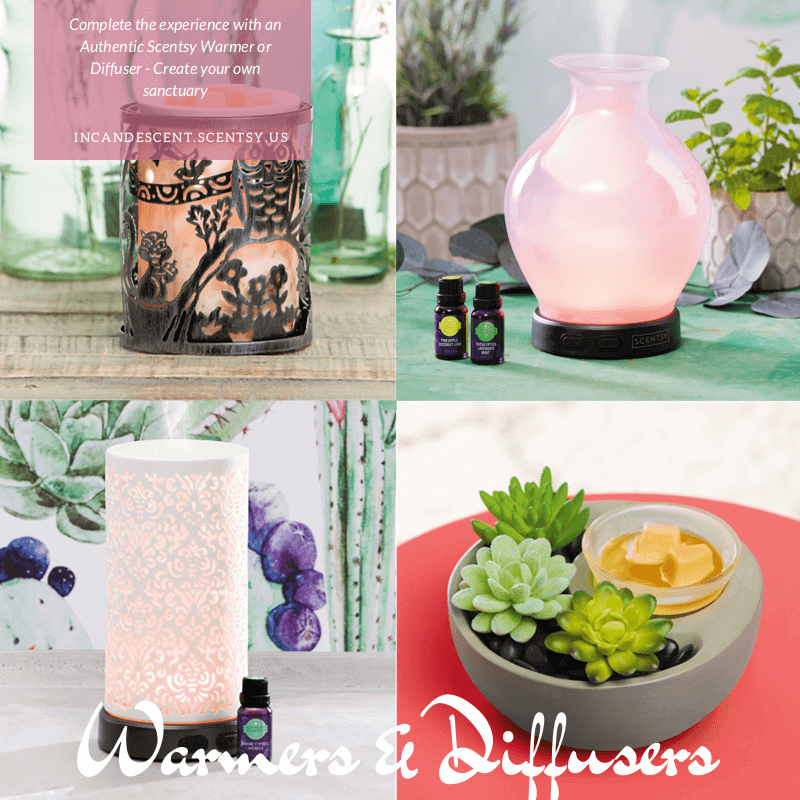 <h2> Scentsy Warmers & Scentsy Diffusers </h2>