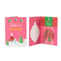 CHRISTMAS COTTAGE HOLIDAY GREETING CARDS WITH SCENTSY SCENT CIRCLES (5-PACK)