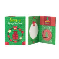 SCENSTY CINNAMON BEAR HOLIDAY GREETING CARDS WITH SCENTSY SCENT CIRCLES (5-PACK) CINNAMON BEAR