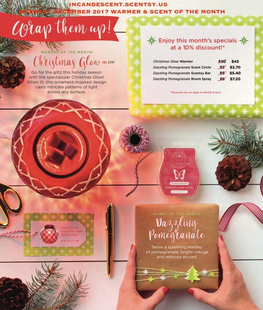 SCENTSY DECEMBER 2017 WARMER & SCENT OF THE MONTH   SCENTSY NOVEMBER 2017 WARMER & SCENT OF THE MONTH ~ CHRISTMAS GLOW SCENTSY WARMER & DAZZLING POMEGRANATE FRAGRANCE   Scentsy® Online Store   Scentsy Warmers & Scents   Incandescent.Scentsy.us