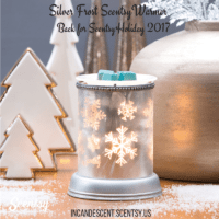 SILVER FROST LAMPSHADE SCENTSY WARMER 2017
