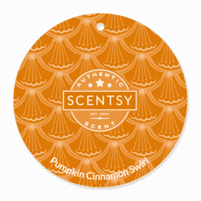 PUMPKIN CINNAMON SWIRL SCENTSY SCENT CIRCLE