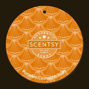 PUMPKIN CINNAMON SWIRL SCENTSY SCENT CIRCLE | Pumpkin Cinnamon Swirl Scentsy Scent Circle | Incandescent.Scentsy.us