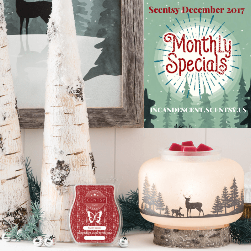 Scentsy December 2017 SPECIALS INCANDESCENT.SCENTSY.US | SCENTSY DECEMBER 2017 WARMER & SCENT OF THE MONTH - WILDLIFE LAMPSHADE SCENTSY WARMER & SCARLET WOODS
