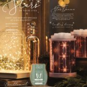 SCENTSY JANUARY 2018 WARMER & SCENT OF THE MONTH - STAR DANCE SCENTSY WARMER & VANILLAMINT SCENTSY FRAGRANCE