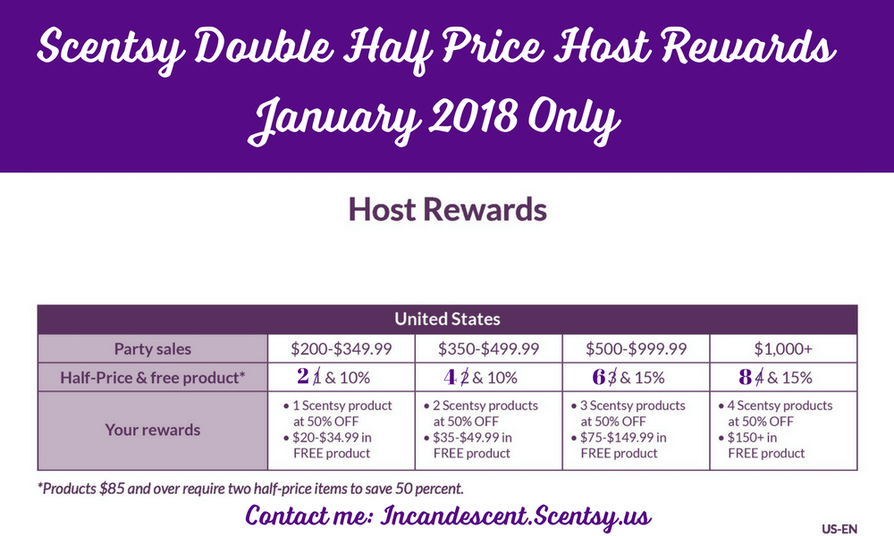 Scentsy Double Host Rewards January 2018 Scentsy Buy Online