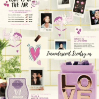 SCENTSY FEBRUARY 2018 WARMER & SCENT OF THE MONTH - ONCE IN A LIFETIME & PLUM AND WHITE WOODS FRAGRANCE