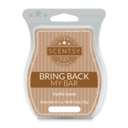 VANILLA SUEDE BRING BACK MY SCENTSY BAR JANUARY 2018