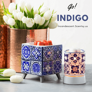 INDIGO TILE WARMERS INCANDESCENT SCENTSY