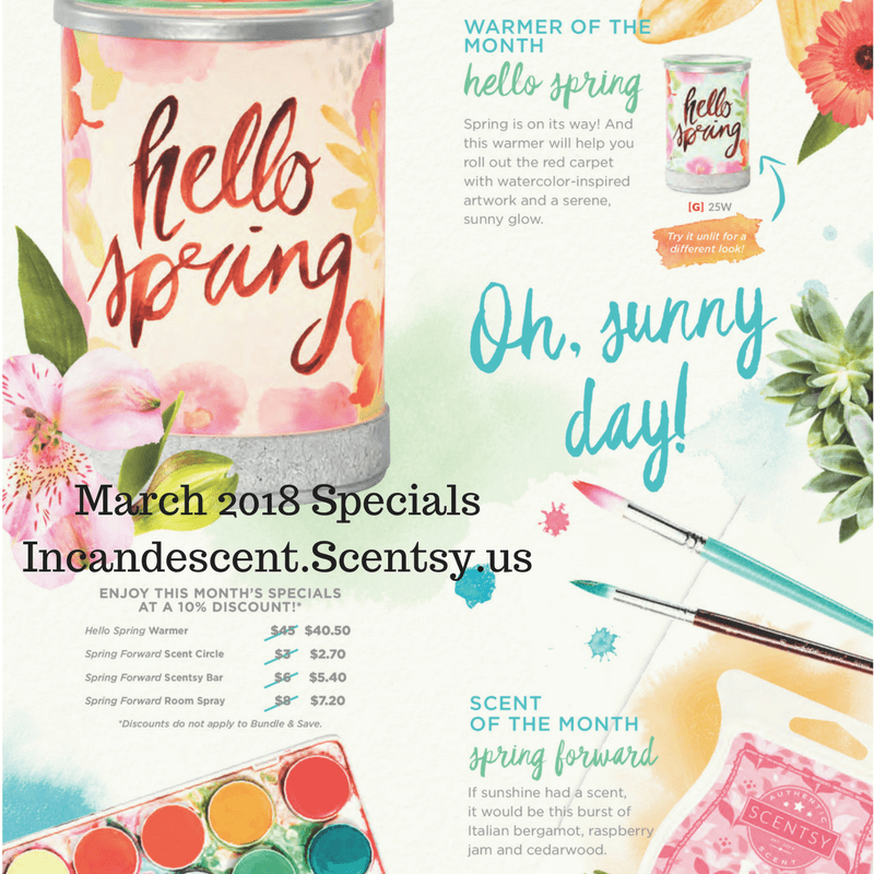 SCENTSY MARCH 2018 WARMER AND SCENT OF THE MONTH INCANDESCENT.SCENTSY.US | SCENTSY MARCH 2018 WARMER & SCENT OF THE MONTH - HELLO SPRING SCENTSY WARMER & SPRING FORWARD FRAGRANCE