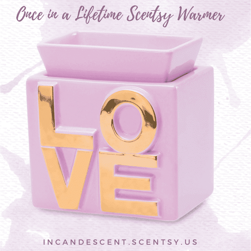 ONCE IN A LIFETIME SCENTSY WARMER INCANDESCENT.SCENTSY.US