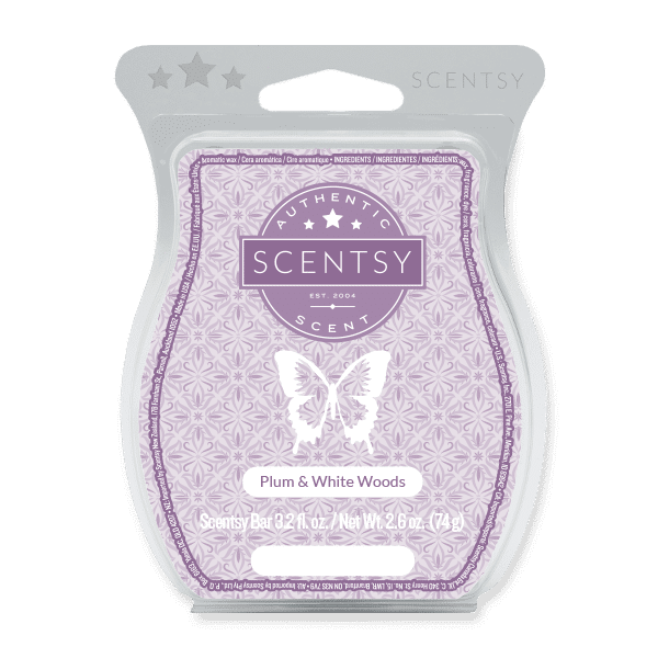PLUM AND WHITE WOODS SCENTSY BAR | BRING BACK MY BAR