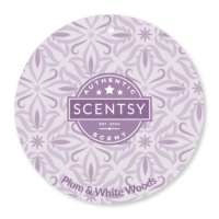 PLUM AND WHITE WOODS SCENTSY SCENT CIRCLE