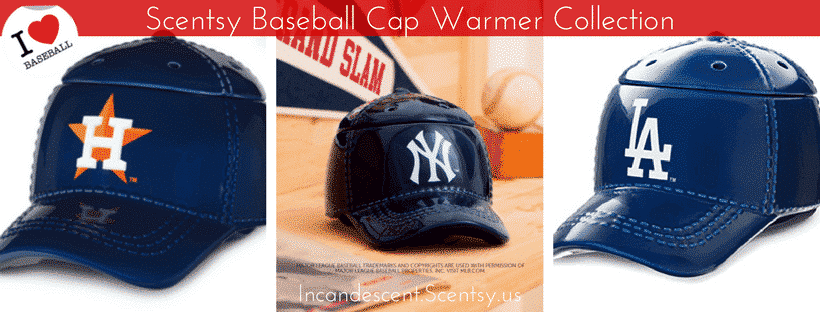 SCENTSY BASEBALL CAP WARMER COLLECTION