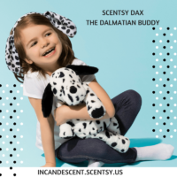 SCENTSY DAX THE DALMATIAN BUDDY   SCENTSY PARTY HOSTS CAN NOW EARN A STARTER KIT!