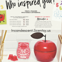 SCENTSY APRIL 2018 WARMER & SCENT OF THE MONTH - APPRECIATION & JOHNNY APPLESEED