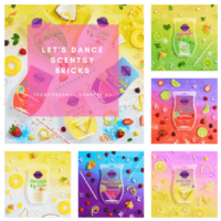NEW! SCENTSY BRICKS - LET'S DANCE SCENTSY 2018 BRICK COLLECTION