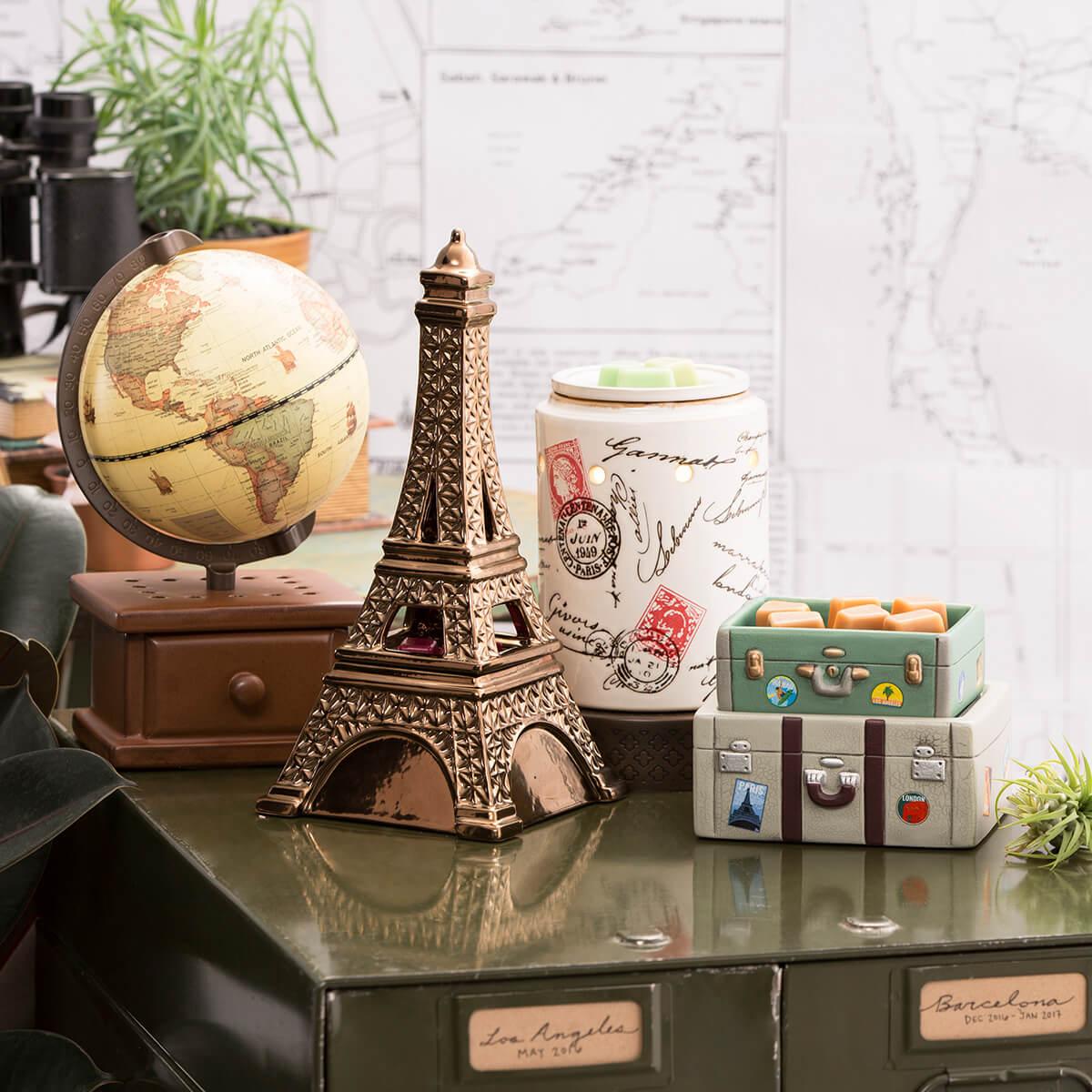 MIDNIGHT IN PARIS PASSPORT BON VOYAGE AND AROUND THE WORLD SCENTSY WARMERS (1)