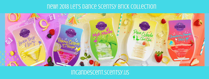 NEW SCENTSY BRICKS LET'S DANCE COLLECTION INCANDESCENT   NEW! SCENTSY BRICKS - LET'S DANCE SCENTSY 2018 BRICK COLLECTION