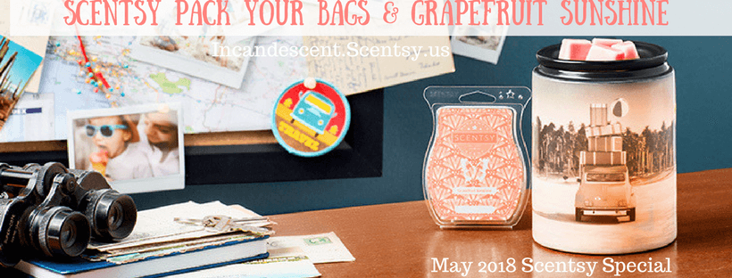 Pack your Bags & Grapefruit Sunshine Scentsy Warmer & Scent of the Month May 2018