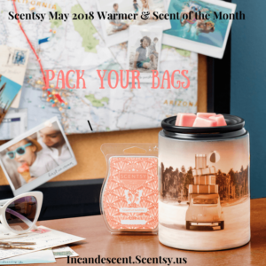 Scentsy May 2018 Warmer & Scent of the Month (1) | SCENTSY MAY 2018 WARMER & SCENT OF THE MONTH - PACK YOUR BAGS SCENTSY WARMER AND GRAPEFRUIT SUNSHINE