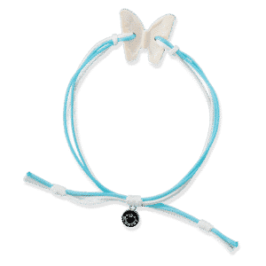 2021 Summer Collection Scented Bracelet – Butterfly Front Blue Agave Melon 1